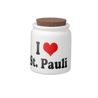 I Love St Pauli Germany Candy Jars