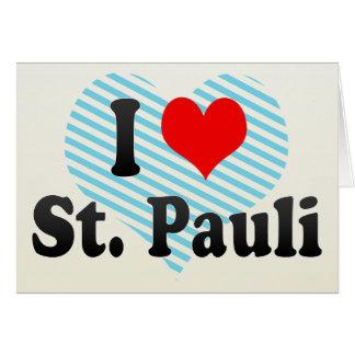 I Love St Pauli Germany Greeting Card