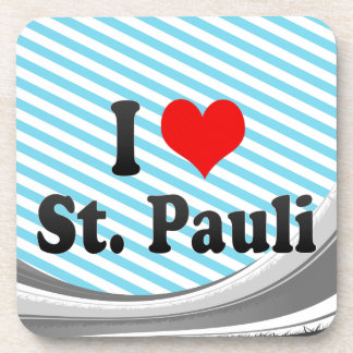 I Love St Pauli Germany Coasters