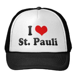 I Love St Pauli Germany Mesh Hats