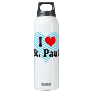 I Love St. Pauli, Germany Insulated Water Bottle