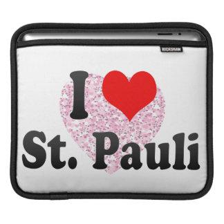 I Love St Pauli Germany iPad Sleeves
