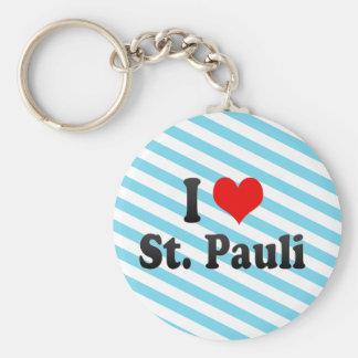 I Love St Pauli Germany Keychain