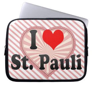 I Love St Pauli Germany Laptop Sleeve