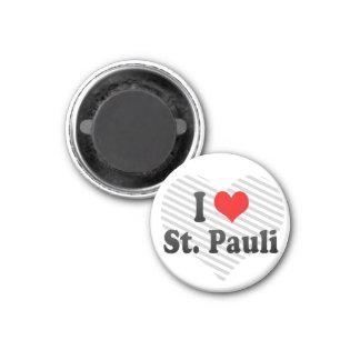 I Love St. Pauli, Germany Fridge Magnet