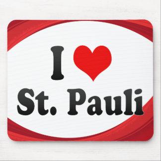 I Love St Pauli Germany Mousepads