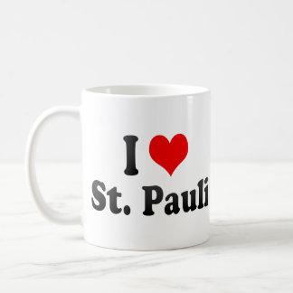 I Love St Pauli Germany Coffee Mugs