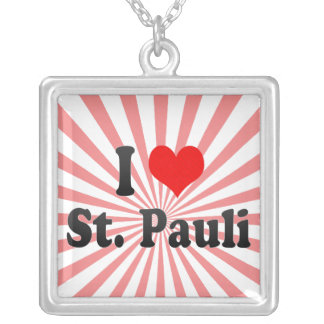 I Love St Pauli Germany Custom Necklace