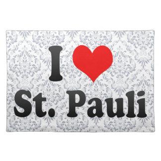 I Love St Pauli Germany Placemats