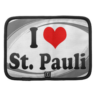 I Love St Pauli Germany Folio Planner