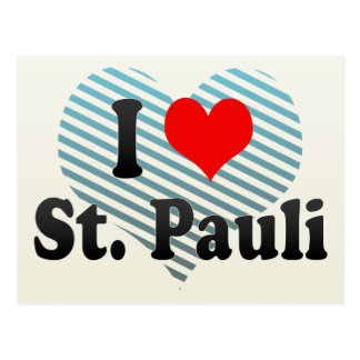 I Love St. Pauli, Germany Postcard