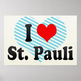 I Love St Pauli Germany Poster