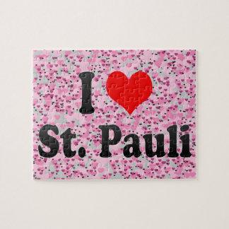 I Love St Pauli Germany Puzzle