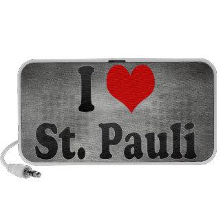 I Love St Pauli Germany Mini Speaker