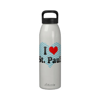 I Love St Pauli Germany Drinking Bottle