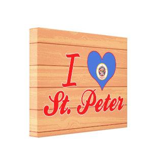 I Love St. Peter, Minnesota Stretched Canvas Print