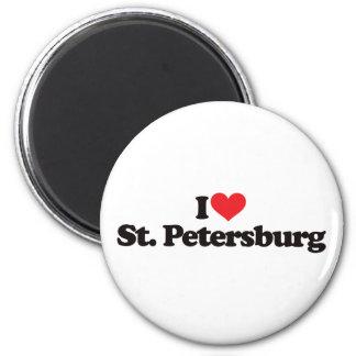 I Love St Petersburg 2 Inch Round Magnet