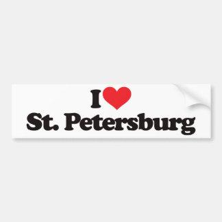 I Love St Petersburg Bumper Sticker