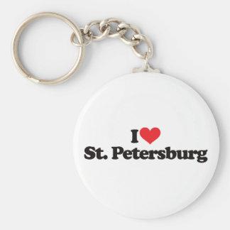 I Love St Petersburg Keychain