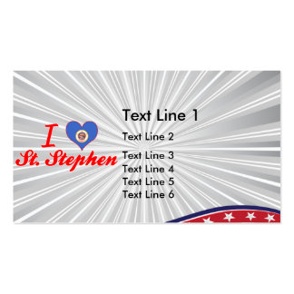 I Love St Stephen Minnesota Business Card Template