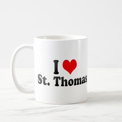 I Love St. Thomas, Canada Classic White Coffee Mug
