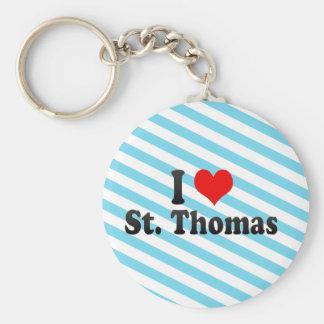 I Love St. Thomas, Canada Key Chains