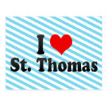 I Love St. Thomas, Canada Post Card