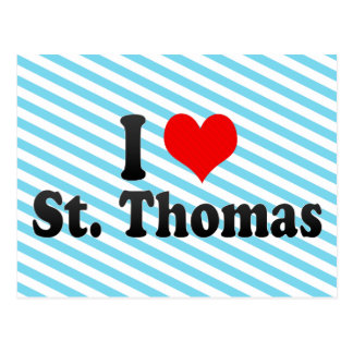 I Love St. Thomas, Canada Postcard