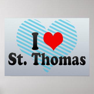 I Love St. Thomas, Canada Poster