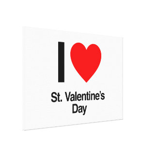 i love st valentine s day canvas print