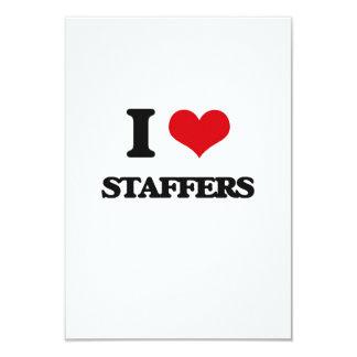 I love Staffers 3.5x5 Paper Invitation Card