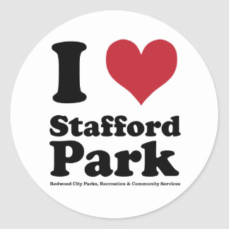 I LOVE Stafford Park Classic Round Sticker