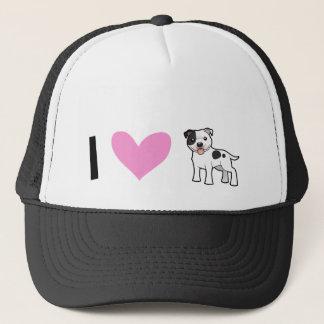 I Love Staffordshire Bull Terriers / Pit Bulls Trucker Hat