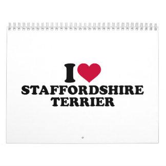 I love Staffordshire Terrier Calendar