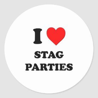 I love Stag Parties Stickers