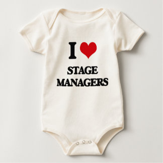 I love Stage Managers Baby Bodysuit