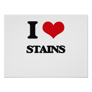 I love Stains Poster