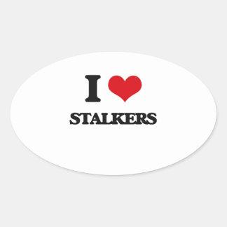 I love Stalkers Oval Sticker