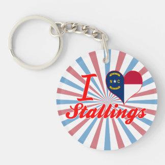I Love Stallings, North Carolina Key Chains