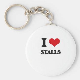 I love Stalls Basic Round Button Keychain