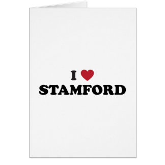 I Love Stamford Connecticut Card