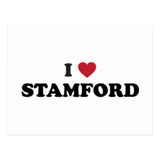 I Love Stamford Connecticut Postcard