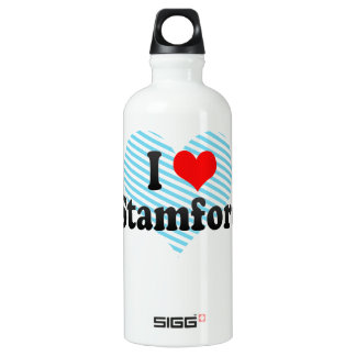 I Love Stamford, United States Aluminum Water Bottle