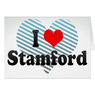I Love Stamford, United States Stationery Note Card