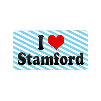I Love Stamford, United States Label