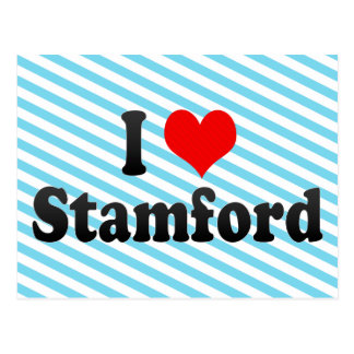 I Love Stamford, United States Postcard