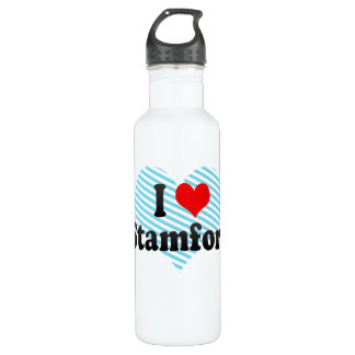 I Love Stamford, United States Water Bottle