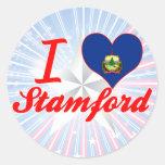 I Love Stamford, Vermont Round Sticker