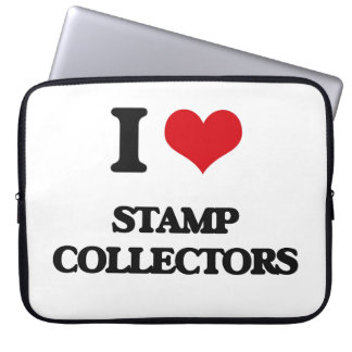 I love Stamp Collectors Laptop Sleeves