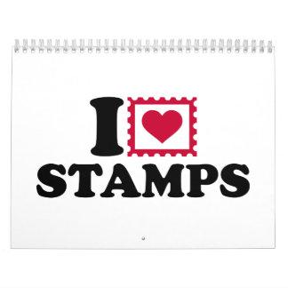 I love stamps calendar